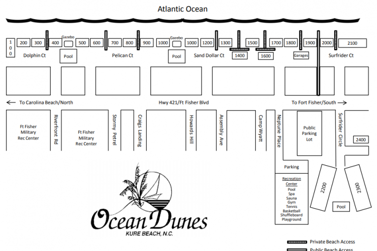 Ocean Dunes Property Map
